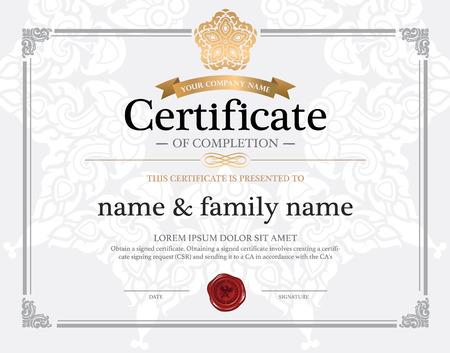 Modèle de conception de certificat. Banque d'images - 38885918