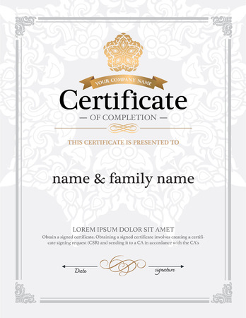 thai: certificate design template.