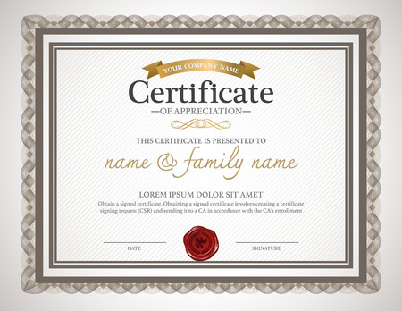 certificate design template. 版權商用圖片 - 38885922