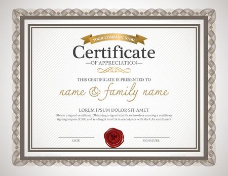 decorative: certificate design template.
