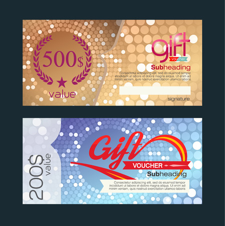 bank check: Voucher template with premium vintage pattern. vector