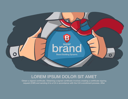Hero Business supper brand message present on the chest. Stok Fotoğraf - 38886079