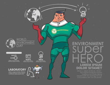 The superhero to the environment. Applied to the assembly Posters, flyers, website , etc. Vector