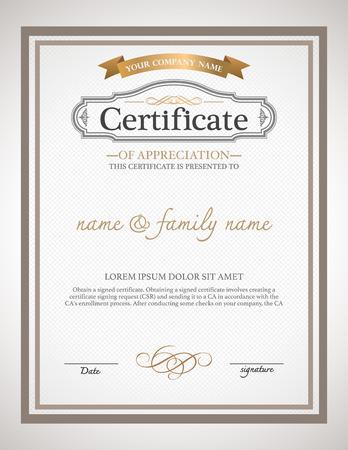 stock certificate: Certificate design template.