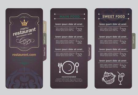 speisekarte: Restaurant Men�-Design. Illustration