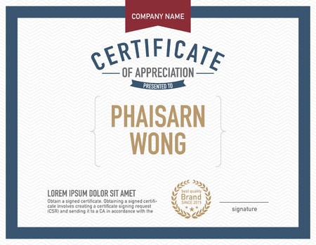 honor: Modern certificate template.