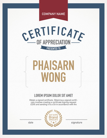 award certificate: Modern certificate template.