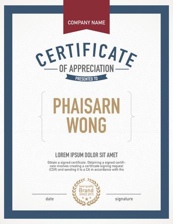 certificado: Plantilla de certificado Moderno.