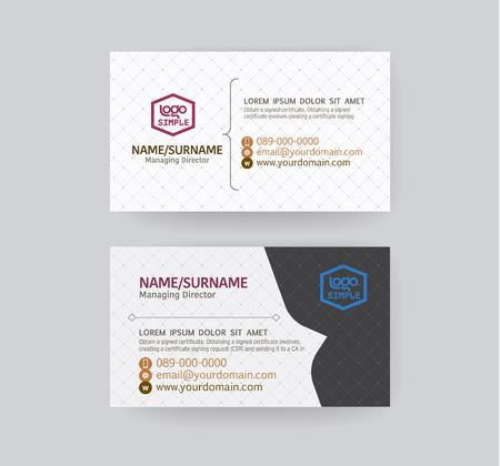 business card: Modern business card template. Illustration