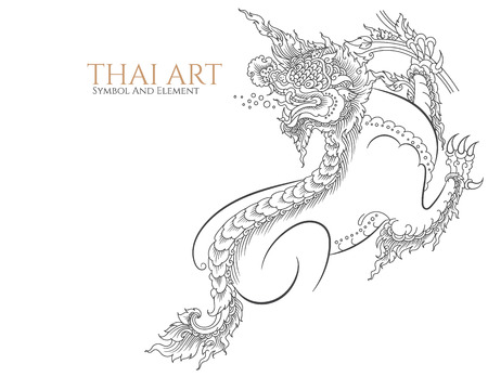 thai style: thai art symbol and element. Illustration