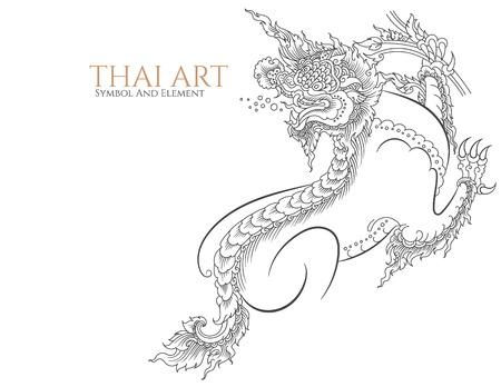 thailand art: thai art symbol and element. Illustration