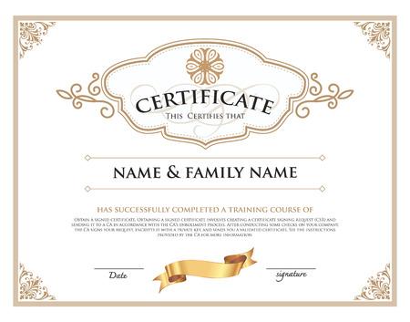 licenciatura: certificado de plantilla de diseño. Vectores