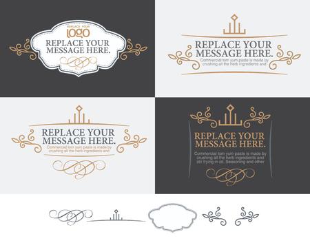 kalligrafische Design-Elementen und Seite Dekoration