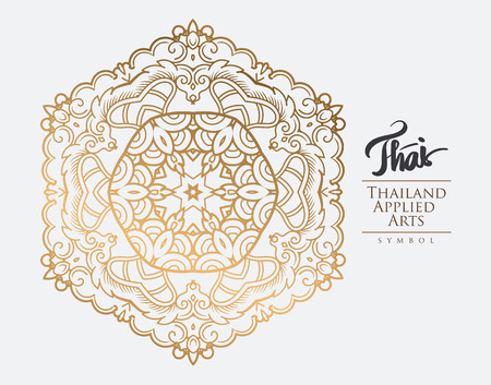 element: Thai art element for design, Traditional gold decor