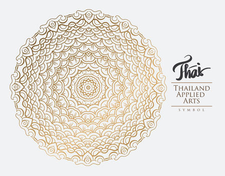 thailand art: Thai art element for design, Traditional gold decor