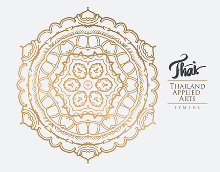 Thai art element for design, Traditional gold decor