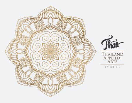 thai art: Thai art element for design, Traditional gold decor