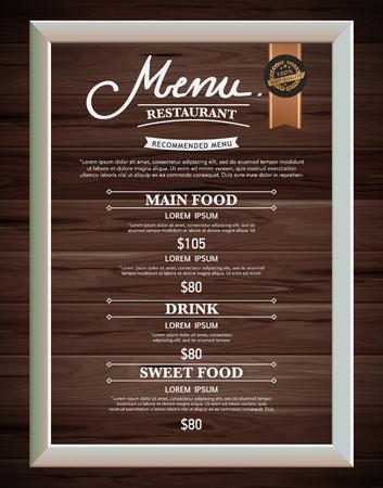old bar: Restaurant menu design.