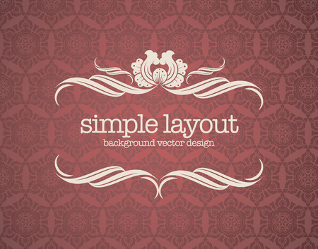 Luxury template flourishes calligraphic elegant ornament lines. Illusztráció
