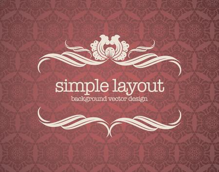 Luxury template flourishes calligraphic elegant ornament lines. Illustration