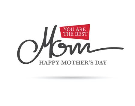 de hand dageraad gelukkige moederdag. minimale lay-out Stock Illustratie