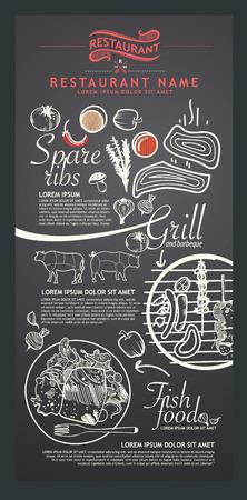 Restaurant menu design. 版權商用圖片 - 40823633