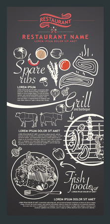 Restaurant menu design.