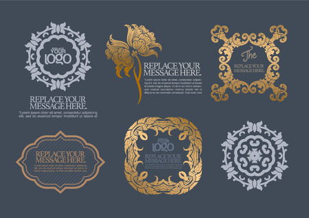 marcos decorativos: conjunto de vectores: elementos de dise�o caligr�fico y decoraci�n de p�gina - muchos elementos �tiles para embellecer su dise�o