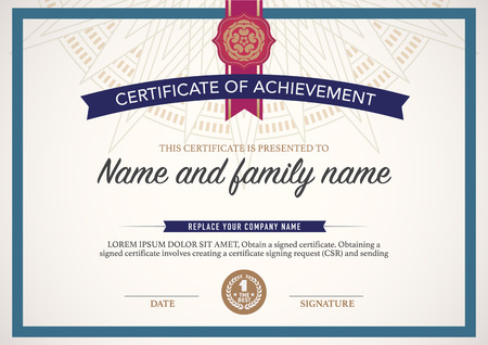 competition: certificate design template.
