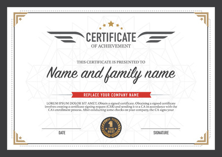 certificate design template.