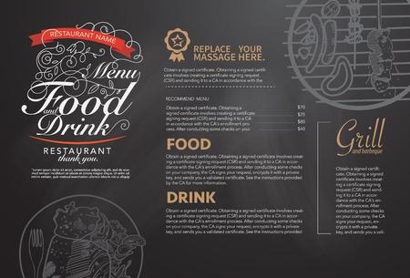 Restaurant-Menü-Design. Illustration