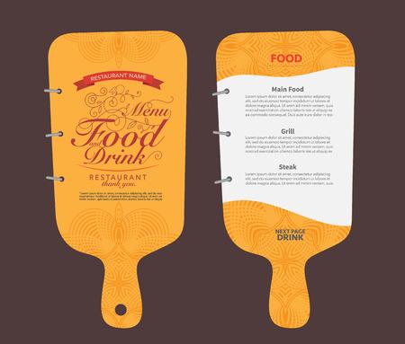 menu de postres: Diseño de menú del restaurante.