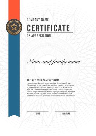 Premium vector design certificate. luxury, modern, Illustration