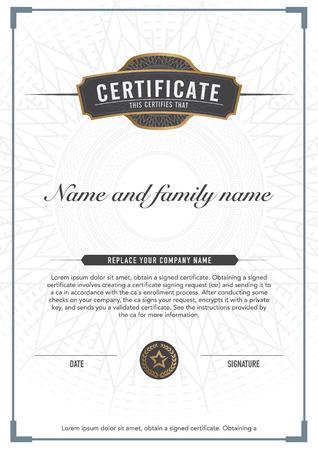 certificate: Certificado de diseño vectorial premium. de lujo, moderno,