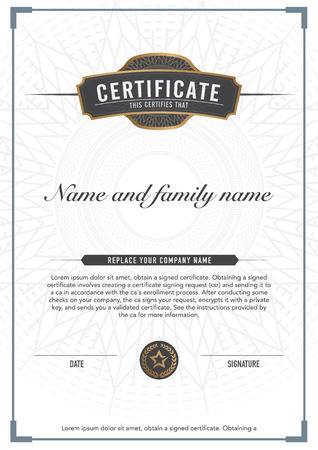 stock certificate: Premium vector design certificate. luxury, modern, Illustration