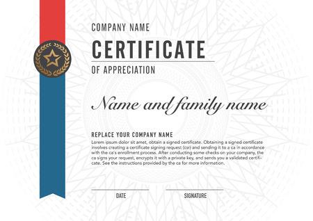 Premium vector design certificaat. luxe, modern, Stock Illustratie