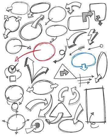 talk balloon: hand draw bubble and arrow.