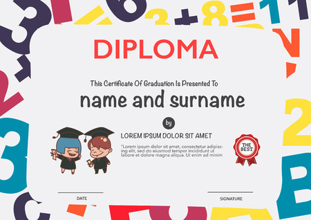 diploma: Certificates kindergarten and elementary and secondary education.