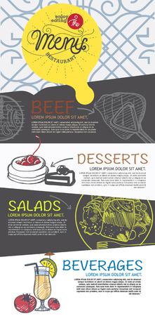 menu restaurant and cafe template design. 向量圖像
