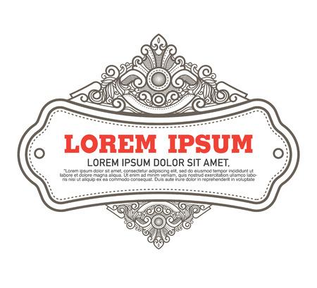 Vector  luxury template flourishes calligraphic elegant ornament lines.