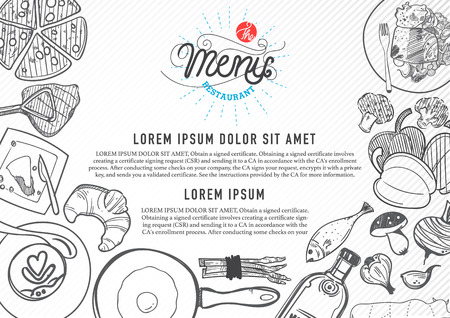 grill: vector food design template. menu restaurant brochure.