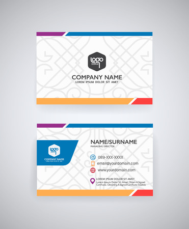 graphic card: Vector modern creative  business card template
