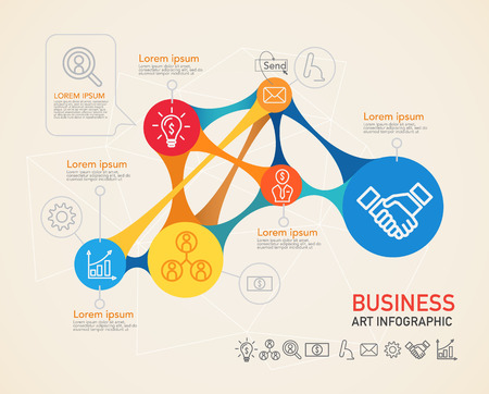 Vector infographics verbinding. Stock Illustratie