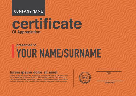 Modern design certificaat.