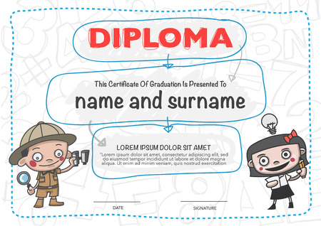 Certificates kindergarten and elementary and secondary education.