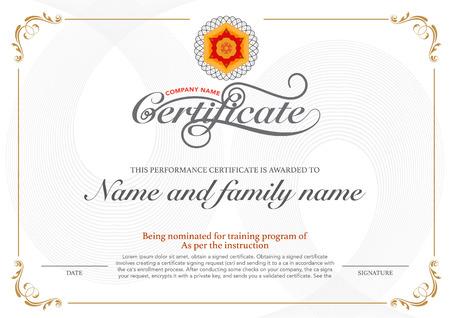vector design certificate. luxury, modern, Vectores