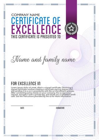 typography design: vector design certificate. Illustration