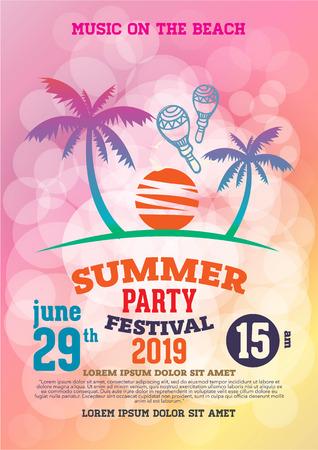 poster zomerfeest en brochure