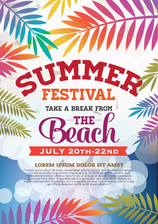 poster summer party and brochure Stock Vector - 42471234
