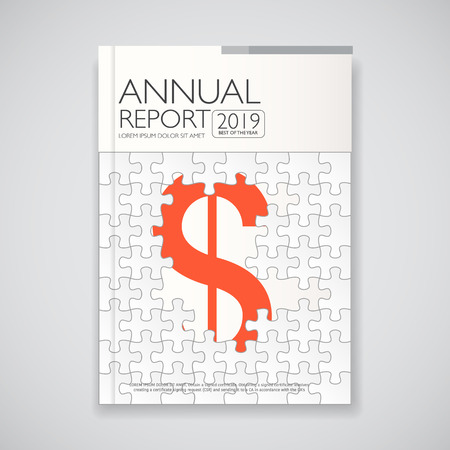 page design: modern  annual report and  brochure  book  flyer design template with paper